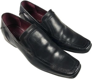 Guess By Marciano Leather Loafers Black Flats