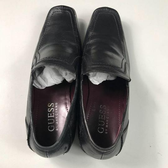 Guess By Marciano Leather Loafers Black Flats Image 3