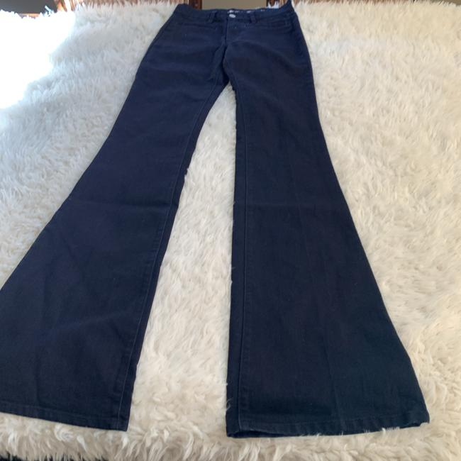 MiH Jeans Casual Mid Rise Dark Wash Work Flare Leg Jeans Image 1