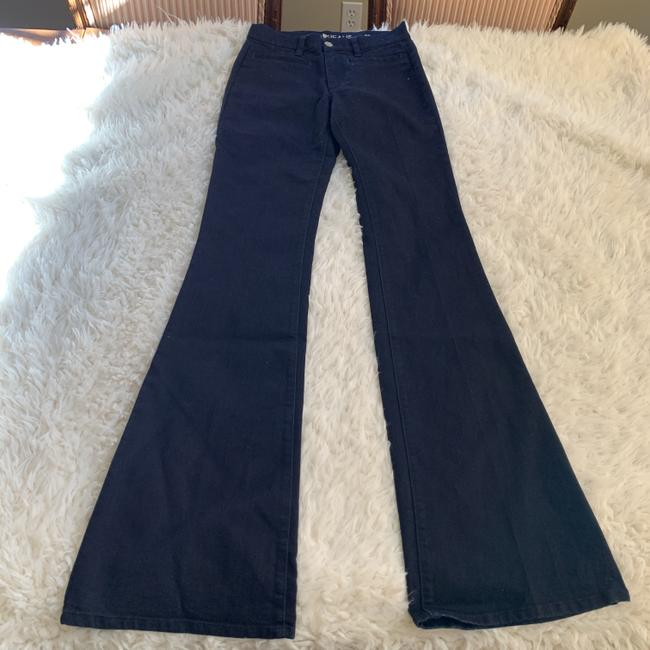 MiH Jeans Casual Mid Rise Dark Wash Work Flare Leg Jeans Image 3