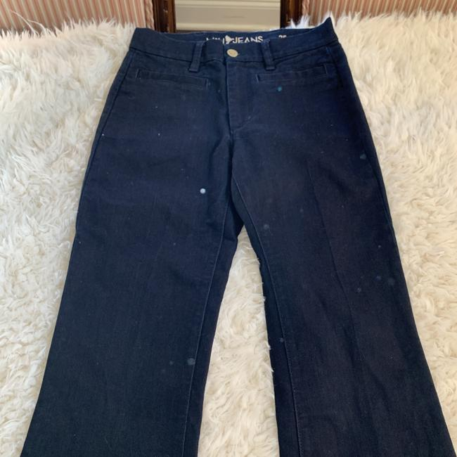 MiH Jeans Casual Mid Rise Dark Wash Work Flare Leg Jeans Image 4
