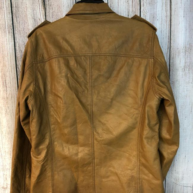 Boss by Hugo Boss BROWN Leather Jacket Image 7