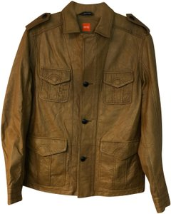 Boss by Hugo Boss BROWN Leather Jacket