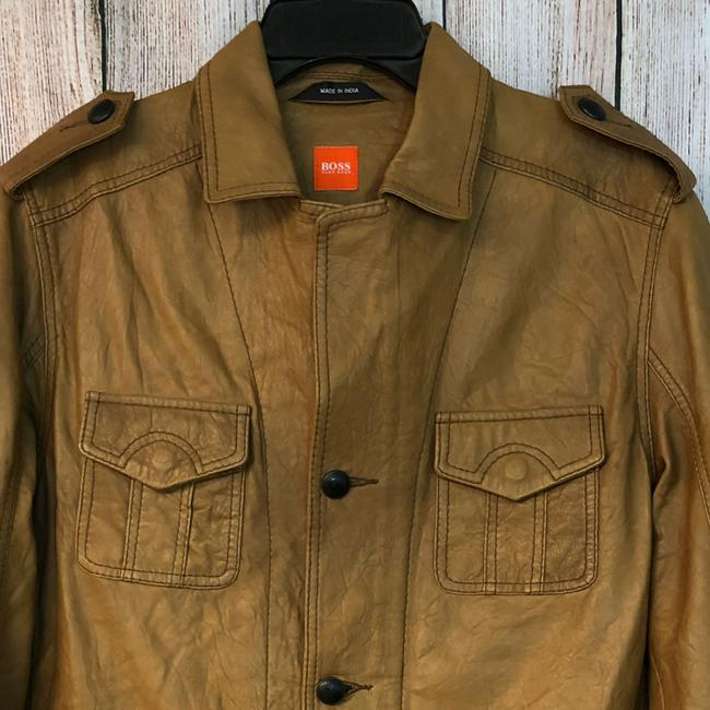 Boss by Hugo Boss BROWN Leather Jacket Image 1