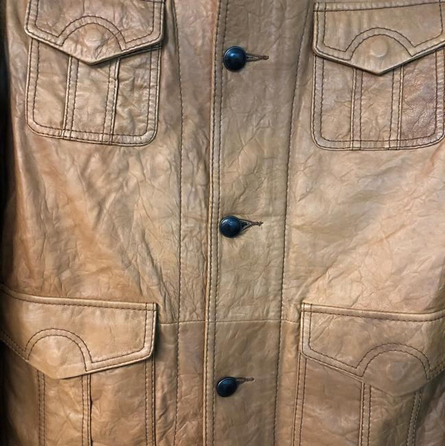 Boss by Hugo Boss BROWN Leather Jacket Image 2