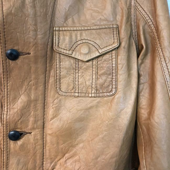Boss by Hugo Boss BROWN Leather Jacket Image 3