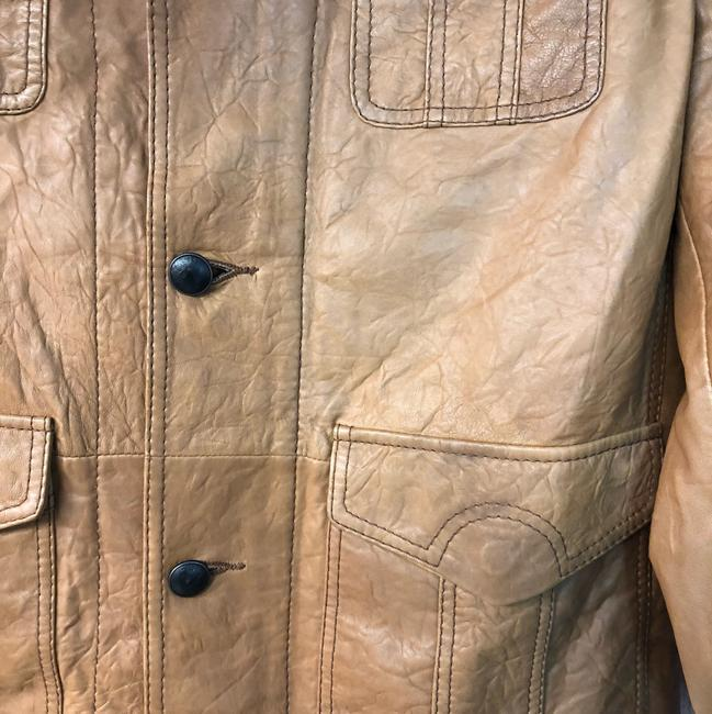 Boss by Hugo Boss BROWN Leather Jacket Image 4
