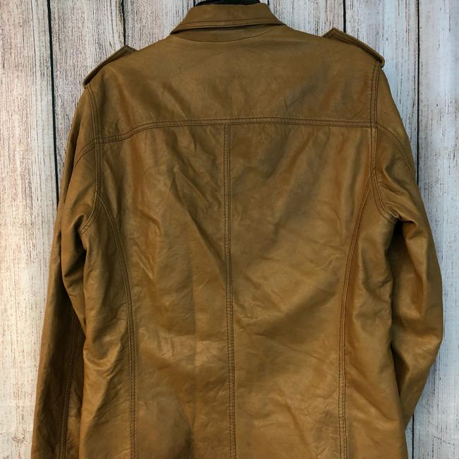 Boss by Hugo Boss BROWN Leather Jacket Image 5