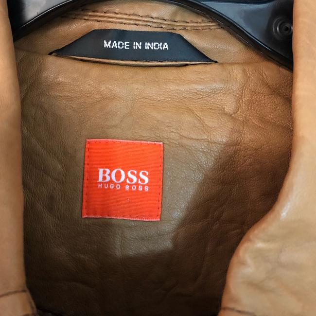 Boss by Hugo Boss BROWN Leather Jacket Image 6