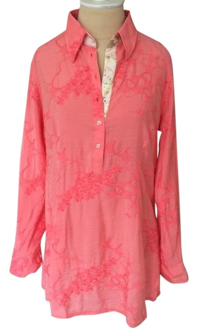 Preload https://img-static.tradesy.com/item/24539724/georg-roth-los-angeles-pink-multi-embroidered-half-button-tunic-size-4-s-0-1-650-650.jpg