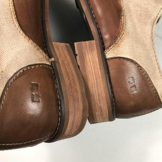 Bed|Stü Oxford Leather Brown Flats Image 2