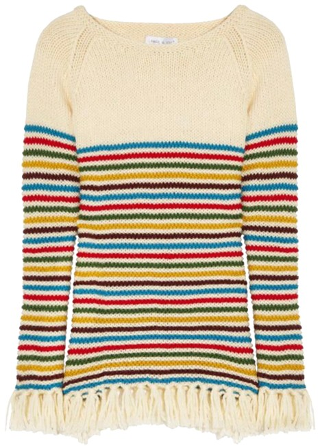 Preload https://img-static.tradesy.com/item/24539791/paul-and-joe-striped-fringe-multicolor-striped-sweater-0-2-650-650.jpg