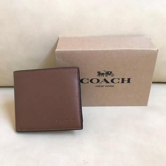 Coach Coach Men's Dark Saddle Billfold Double Fold Calf Leather Wallet F7508 Image 5