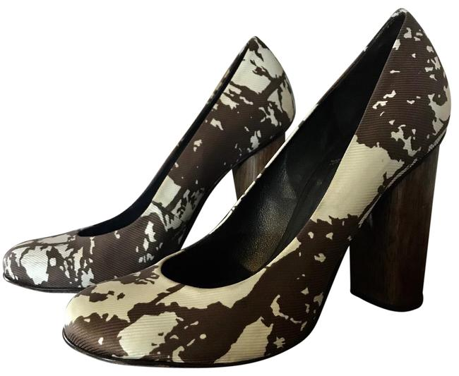 Item - Brown Cream Bria Pumps Size US 5 Regular (M, B)