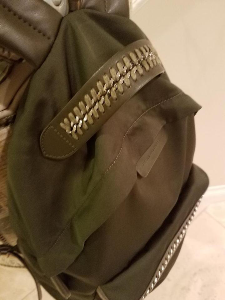 0eaf447e2 Stella McCartney Patent Soft Green Canvas and Leather Backpack - Tradesy
