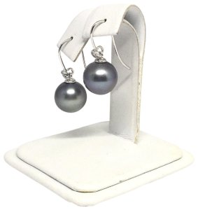 Estate Certified 1290 Tahitian Pearl and Diamond 11.4 Mm 14Kt 13908