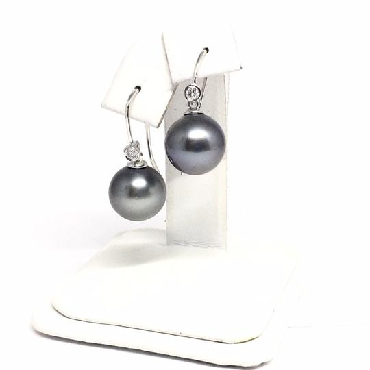 Estate Certified 1290 Tahitian Pearl and Diamond 11.4 Mm 14Kt 13908 Image 1