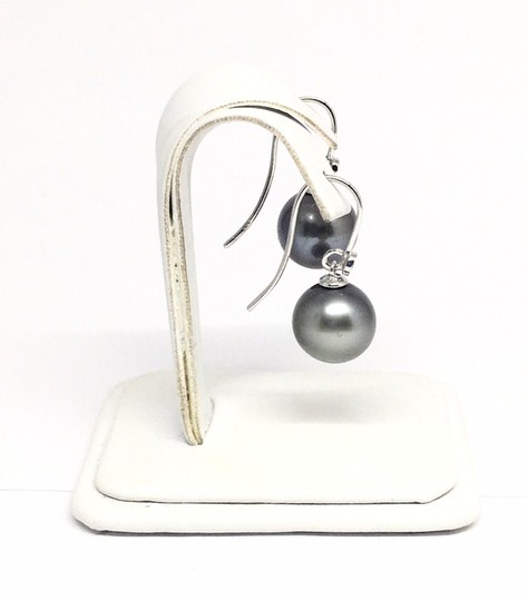 Estate Certified 1290 Tahitian Pearl and Diamond 11.4 Mm 14Kt 13908 Image 2