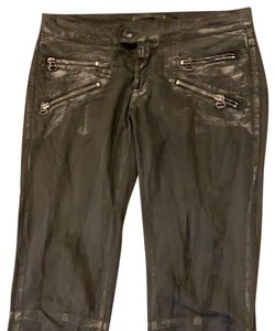 Pierre Balmain Designer Imported Distressed Skinny Jeans-Coated