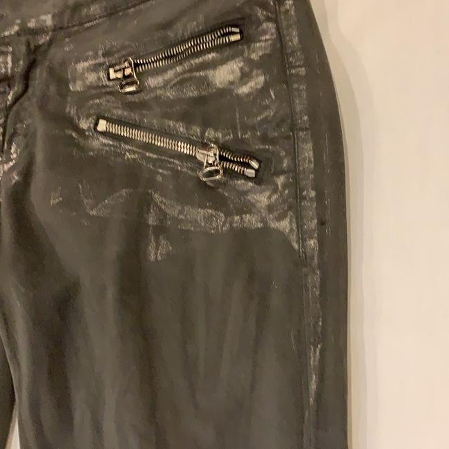Pierre Balmain Designer Imported Distressed Skinny Jeans-Coated Image 1