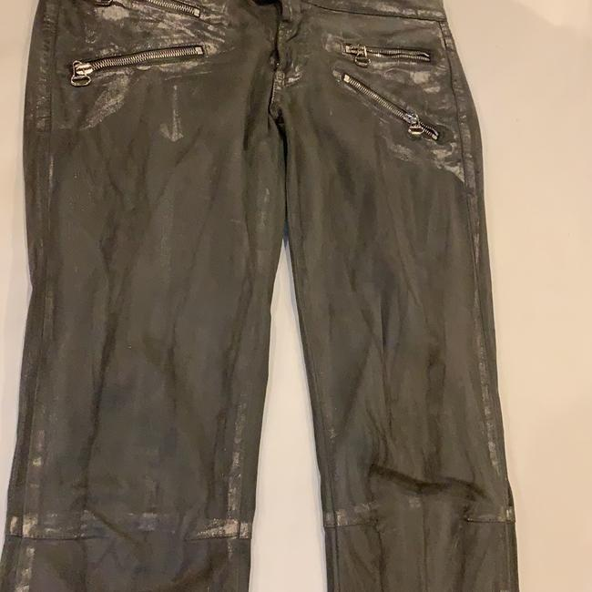 Pierre Balmain Designer Imported Distressed Skinny Jeans-Coated Image 2