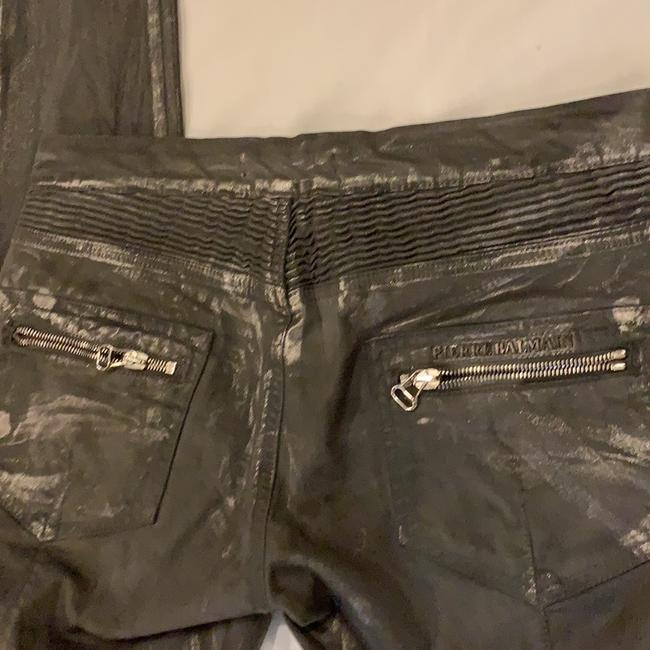 Pierre Balmain Designer Imported Distressed Skinny Jeans-Coated Image 4