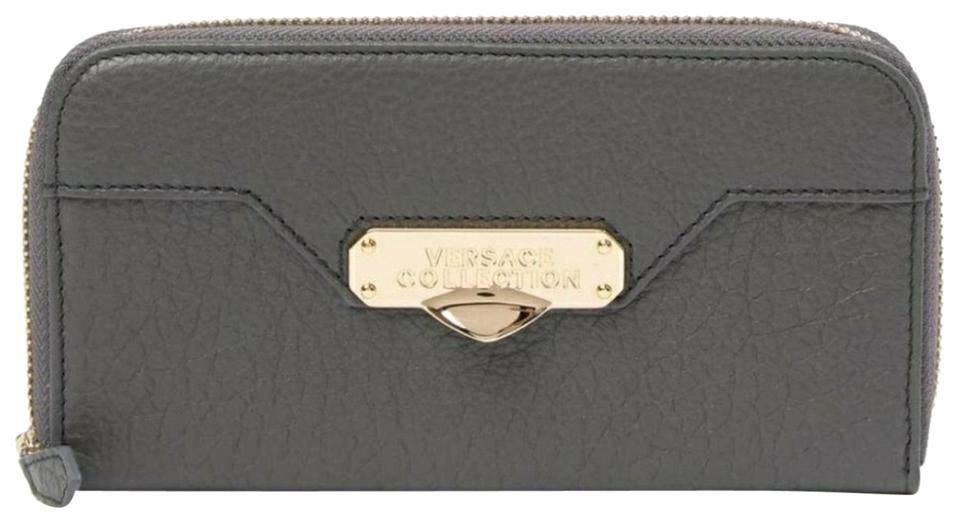 rivenditore di vendita d42ac d5cde Versace Collection Gray Portafoglio Vitello Leather Wallet 55% off retail