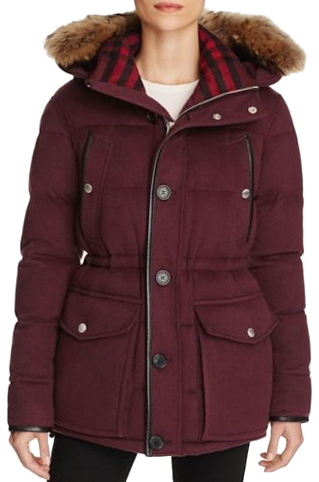 5c6ed2fb2 Burberry Claret Stevenford Cashmere Puffer Jacket Small Coat Size 4 (S) 51%  off retail