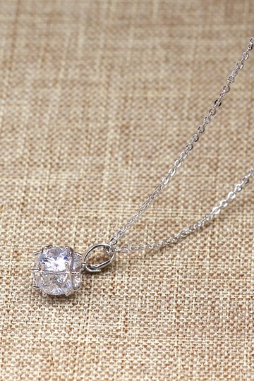 Ocean Fashion Silver mini crystal ball necklace Image 1