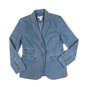 2285e72d795 ORVIS Equestrian Patched Elbow Chambray Womens Jean Jacket