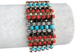Chan Luu New Authentic Chan Luu Turquoise Red Mix Single Wrap Cuff Bracelet
