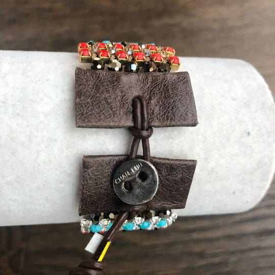 Chan Luu New Authentic Chan Luu Turquoise Red Mix Single Wrap Cuff Bracelet Image 1