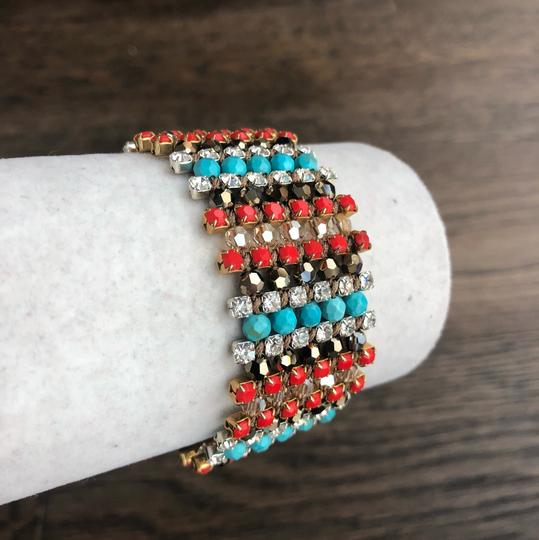Chan Luu New Authentic Chan Luu Turquoise Red Mix Single Wrap Cuff Bracelet Image 2