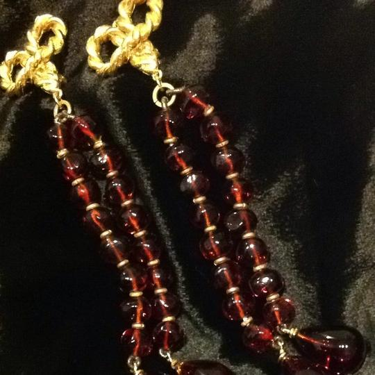 Saks Fifth Avenue Gold And Amber Drop Earrings Image 2