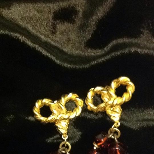 Saks Fifth Avenue Gold And Amber Drop Earrings Image 3