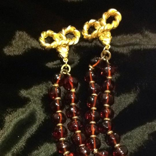 Saks Fifth Avenue Gold And Amber Drop Earrings Image 4