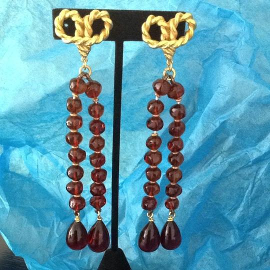 Saks Fifth Avenue Gold And Amber Drop Earrings Image 7