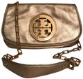 Tory Burch Purse Handbag Clutch Distressed Metallic Cross Body Bag Image 0
