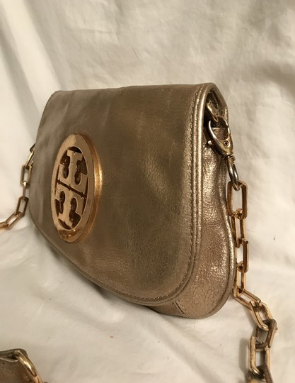 Tory Burch Purse Handbag Clutch Distressed Metallic Cross Body Bag Image 1