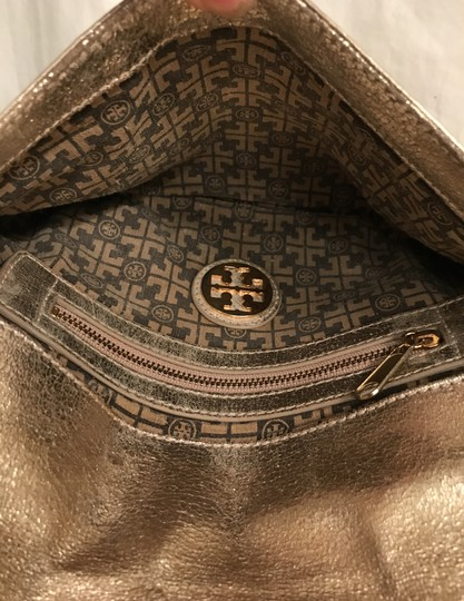 Tory Burch Purse Handbag Clutch Distressed Metallic Cross Body Bag Image 5