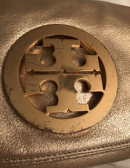 Tory Burch Purse Handbag Clutch Distressed Metallic Cross Body Bag Image 9