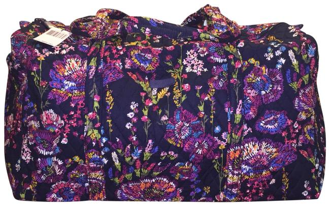 Item - Large Duffel In Midnight Wildflower Multicolor Cotton Weekend/Travel Bag