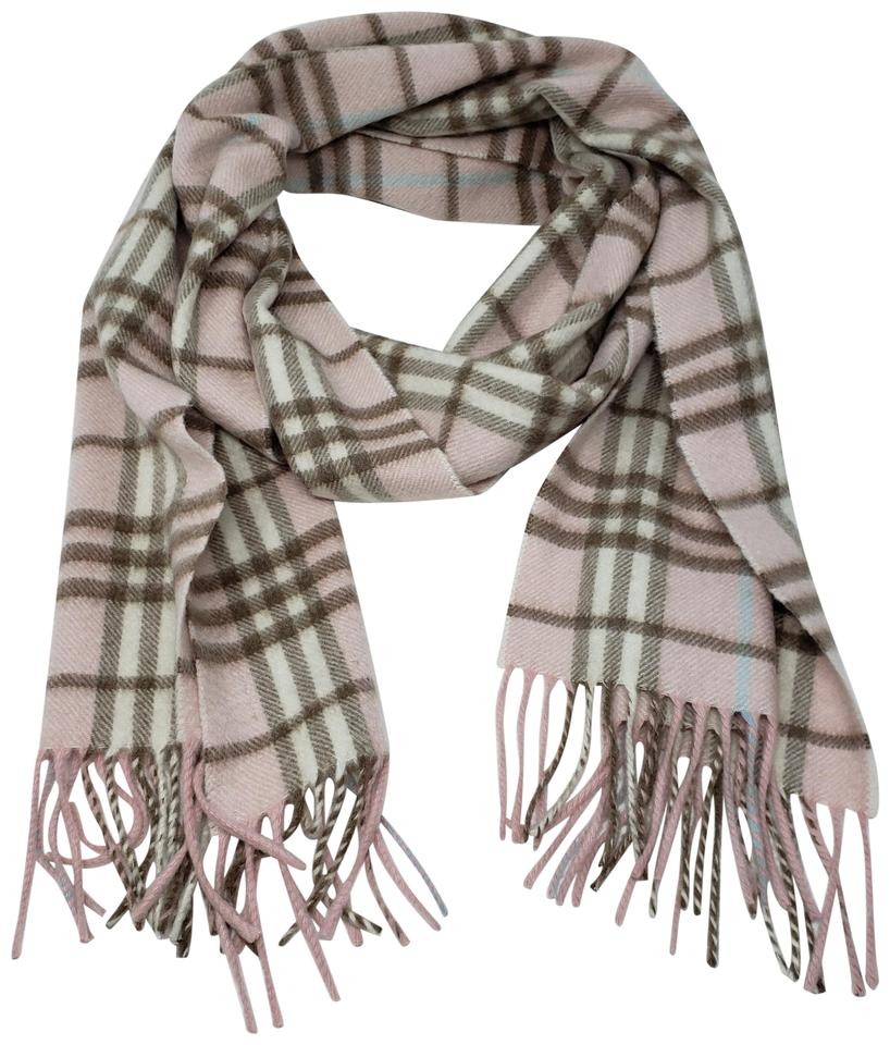 f91647962 Burberry Multicolor Pink Brown Blue Cashmere London Nova Check Scarf/Wrap