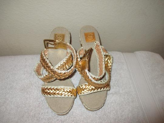 Tory Burch gold Wedges Image 10