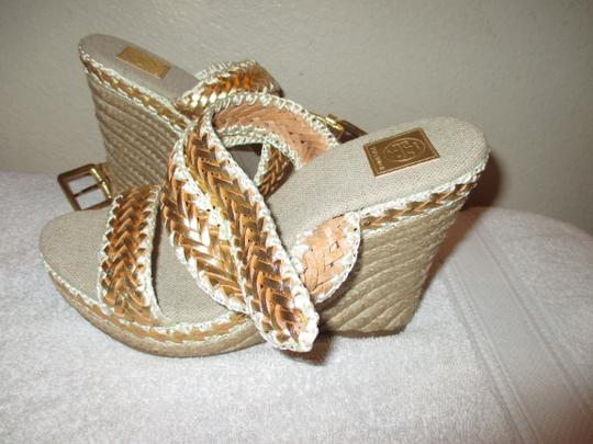 Tory Burch gold Wedges Image 11