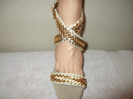 Tory Burch gold Wedges Image 2