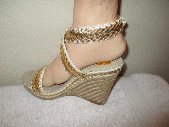 Tory Burch gold Wedges Image 4