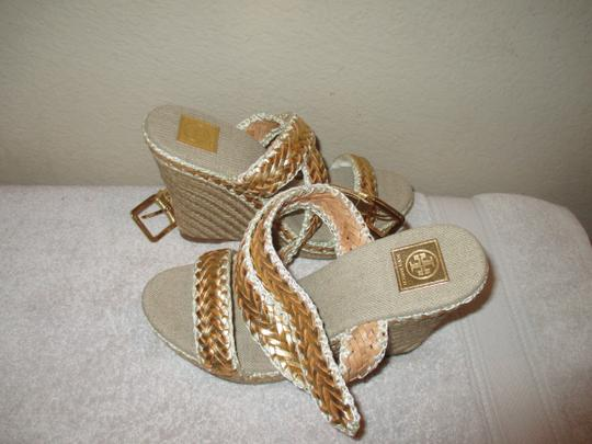 Tory Burch gold Wedges Image 7