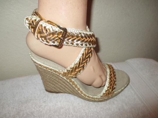 Tory Burch gold Wedges Image 8