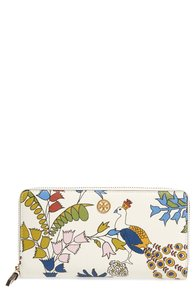 Tory Burch Robinson Floral Leather Continental Wallet